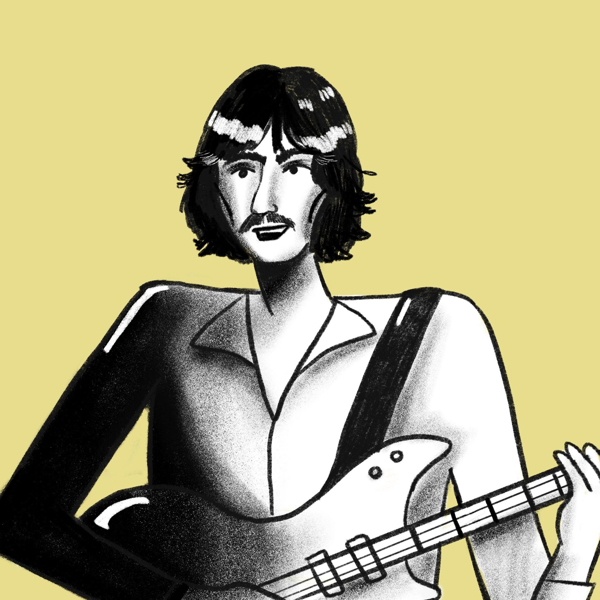 2048x2048 George Harrison Beatles