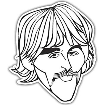 355x355 The Beatles George Harrison Vynil Car Sticker Decal