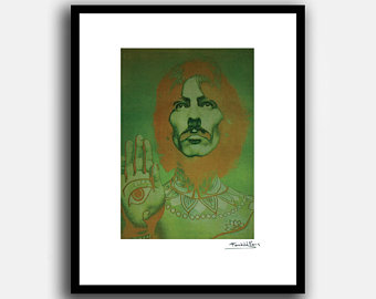 340x270 George Harrison Poster Etsy