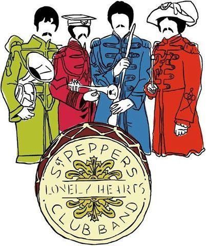 402x480 Drawing Of Sgt Pepper's The Beatles The Beatles