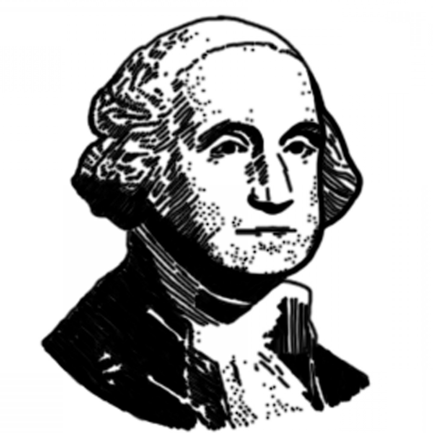 1440x1440 George Washington Clipart Black And White Clipart Portal