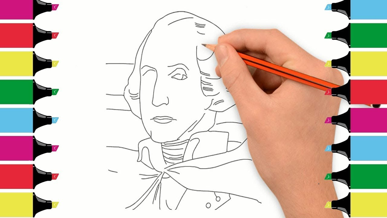 1280x720 how to draw art of george washington photo george washington
