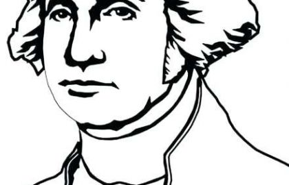 420x270 Free Coloring Pages George Washington Awesome Drawing Coloring