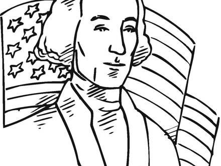 440x330 george washington color page, president george washington