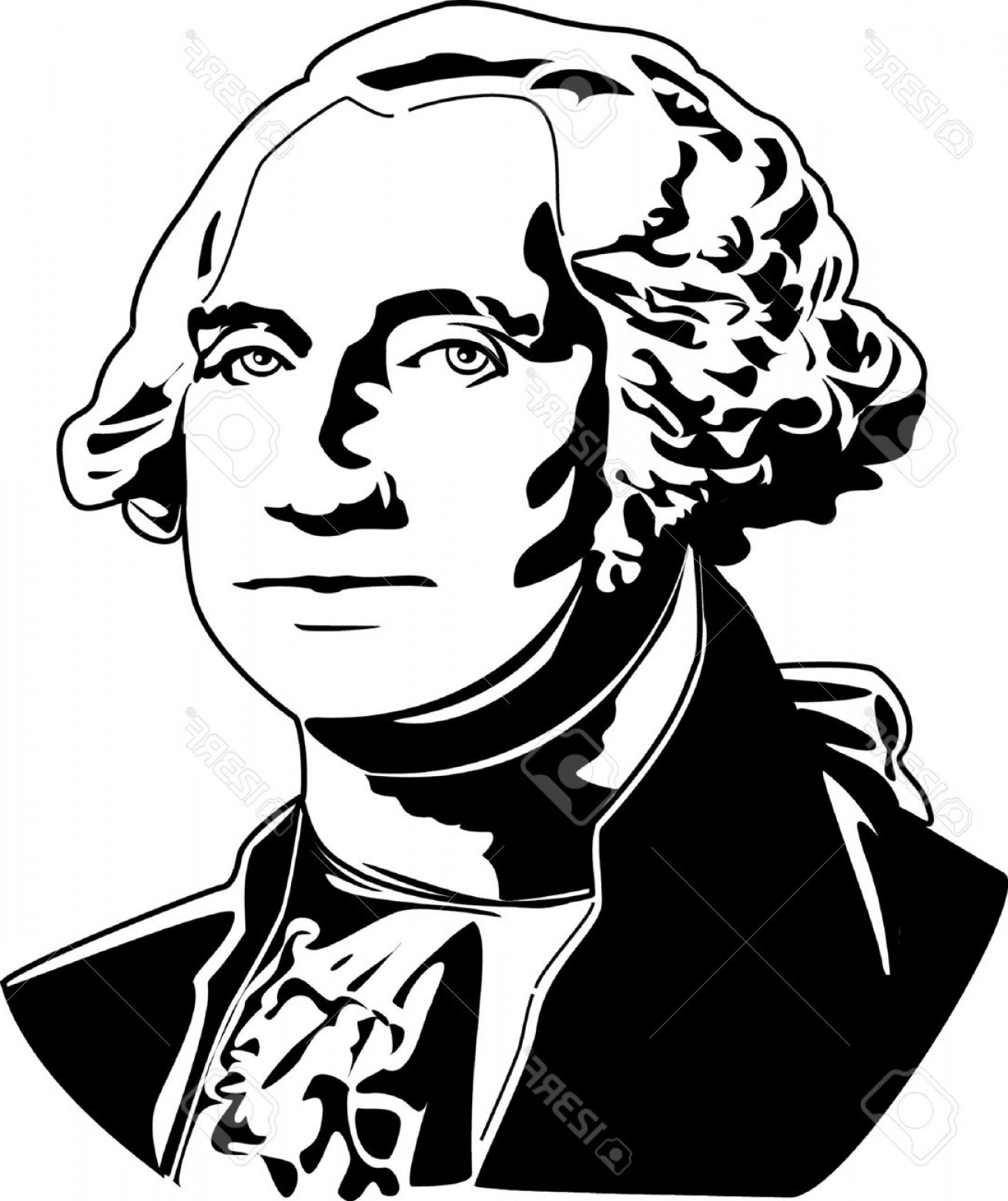 1309x1560 George Washington Clipart Black And White Arenawp