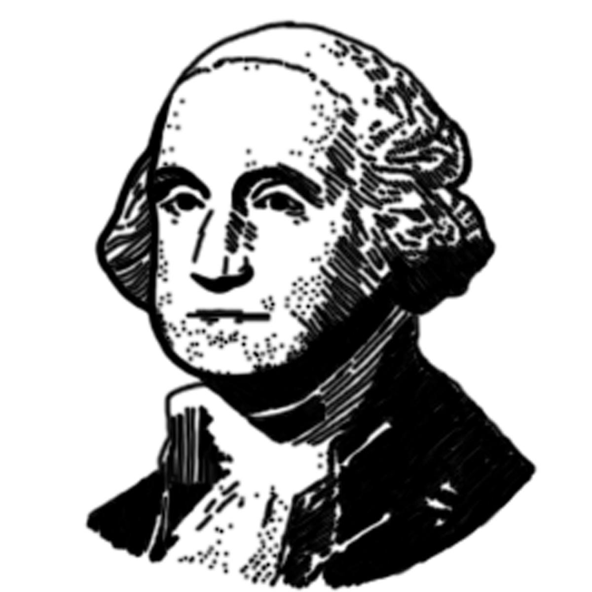 1200x1200 George Washington Clipart Black And White