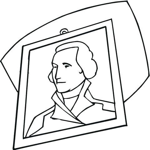 480x480 George Washington Coloring Portrait Coloring