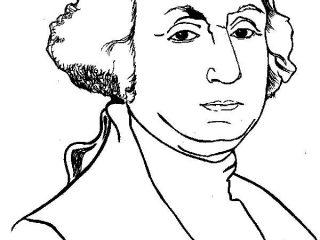 320x240 George Washington Coloring