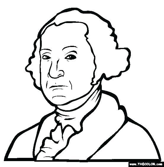554x565 President George Washington Coloring