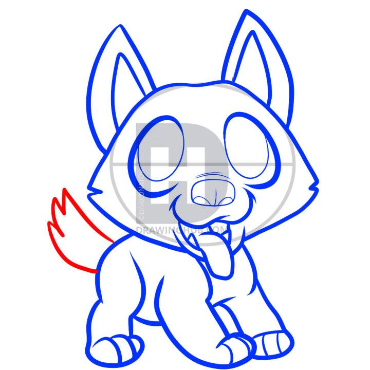 720x720 how to draw a german shepherd puppy, german shepherd puppy, step