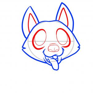 302x302 draw a german shepherd puppy, german shepherd puppy, step