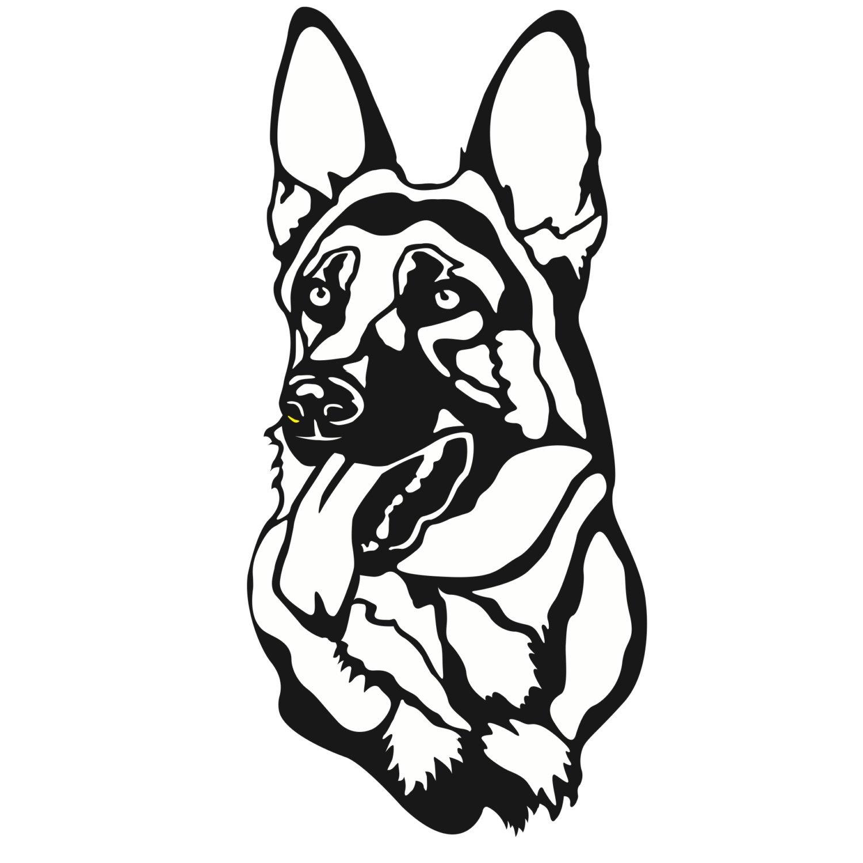German Shepherd Dog Drawing | Free download on ClipArtMag