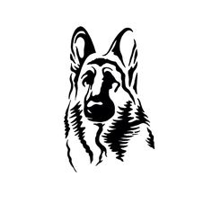 German Shepherd Easy Face Drawing