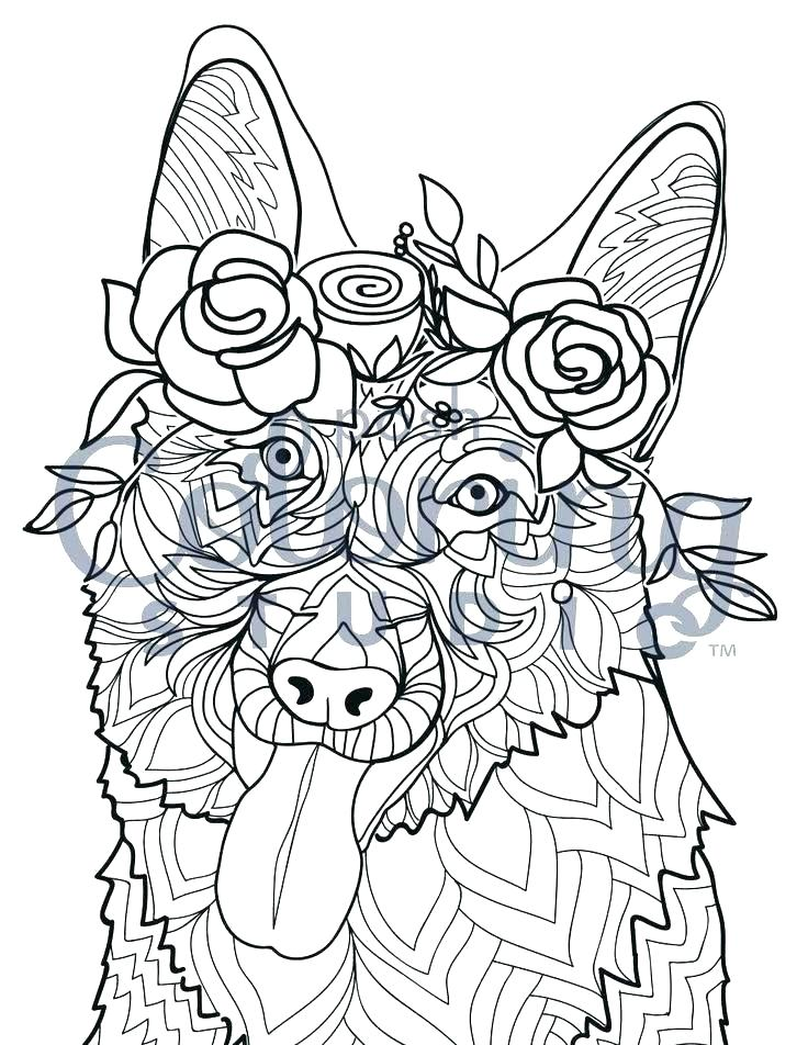 Colorators - Coloring Pages for Kids: German Shepherd ...
