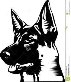 German Shepherd Head Drawing