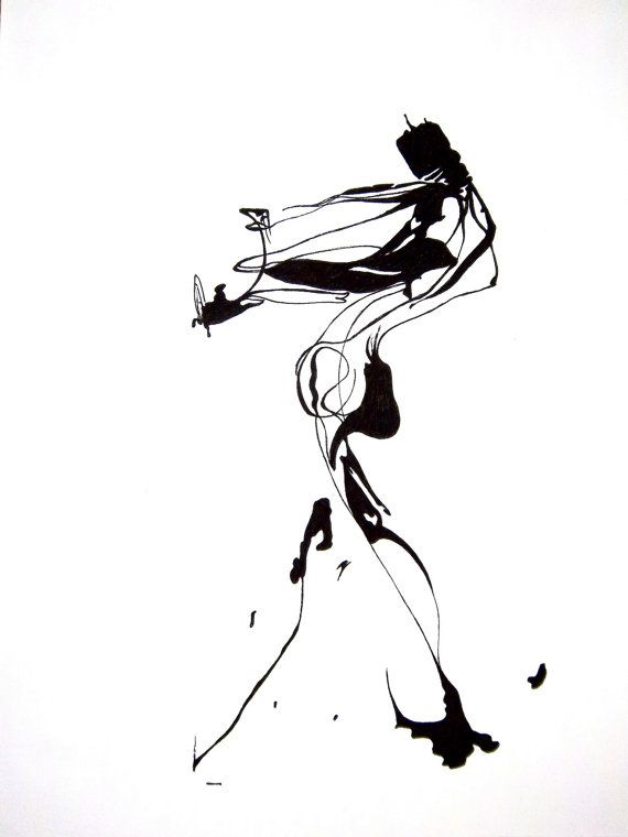 570x760 Abstract Human Figure Ink Drawing Inspiration Abstract