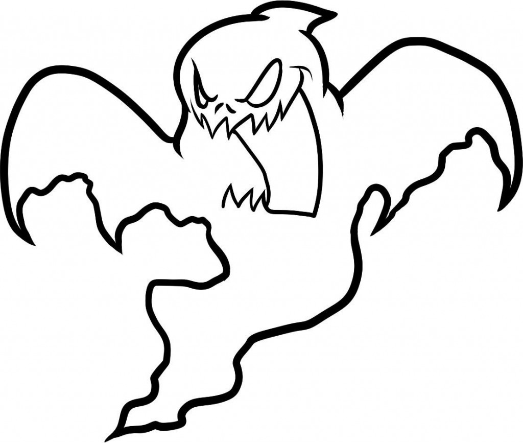 1024x867 Easy Ghost Coloring Pages Free Printable For Kids