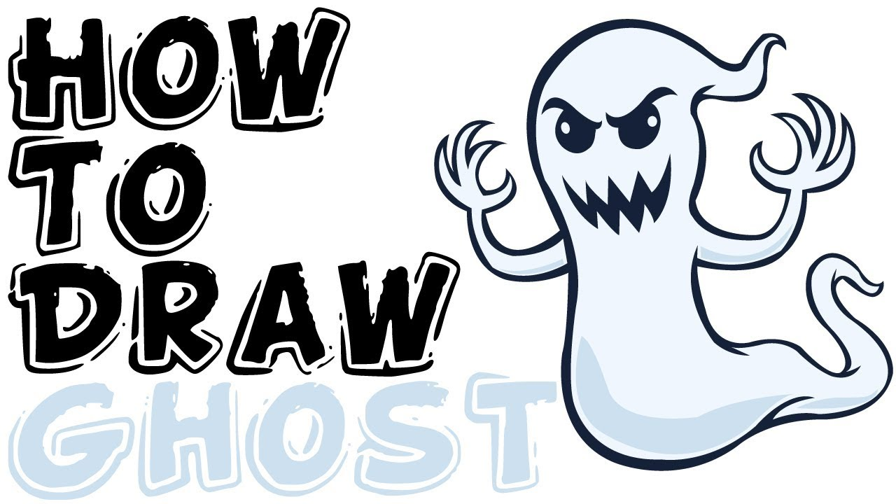 1280x720 How To Draw A Ghost Super Easy Step
