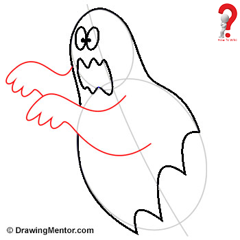 350x350 How To Draw A Ghost Easy Tutorial How To Wiki