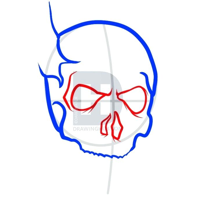 686x720 How To Draw A Easy Ghost