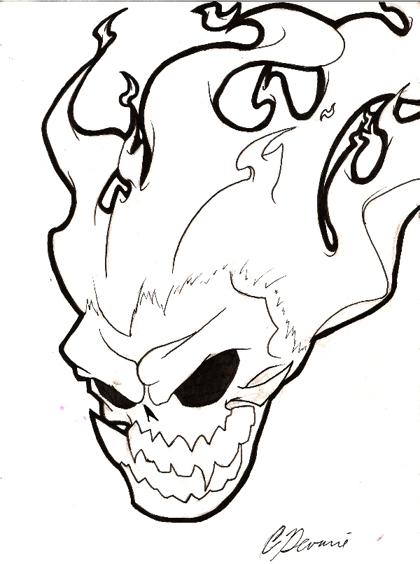 Ghost Rider Drawing