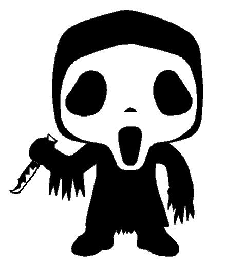 440x526 Ghostface Scream Funko Pop Inspired Vinyl Decal Laptop Car Yeti