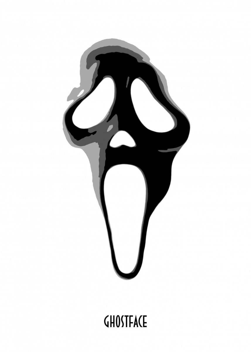 857x1200 Ghostface White
