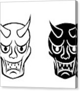 163x186 Hanya Mask Evil Ghost Face In Logo And Icon Art Print