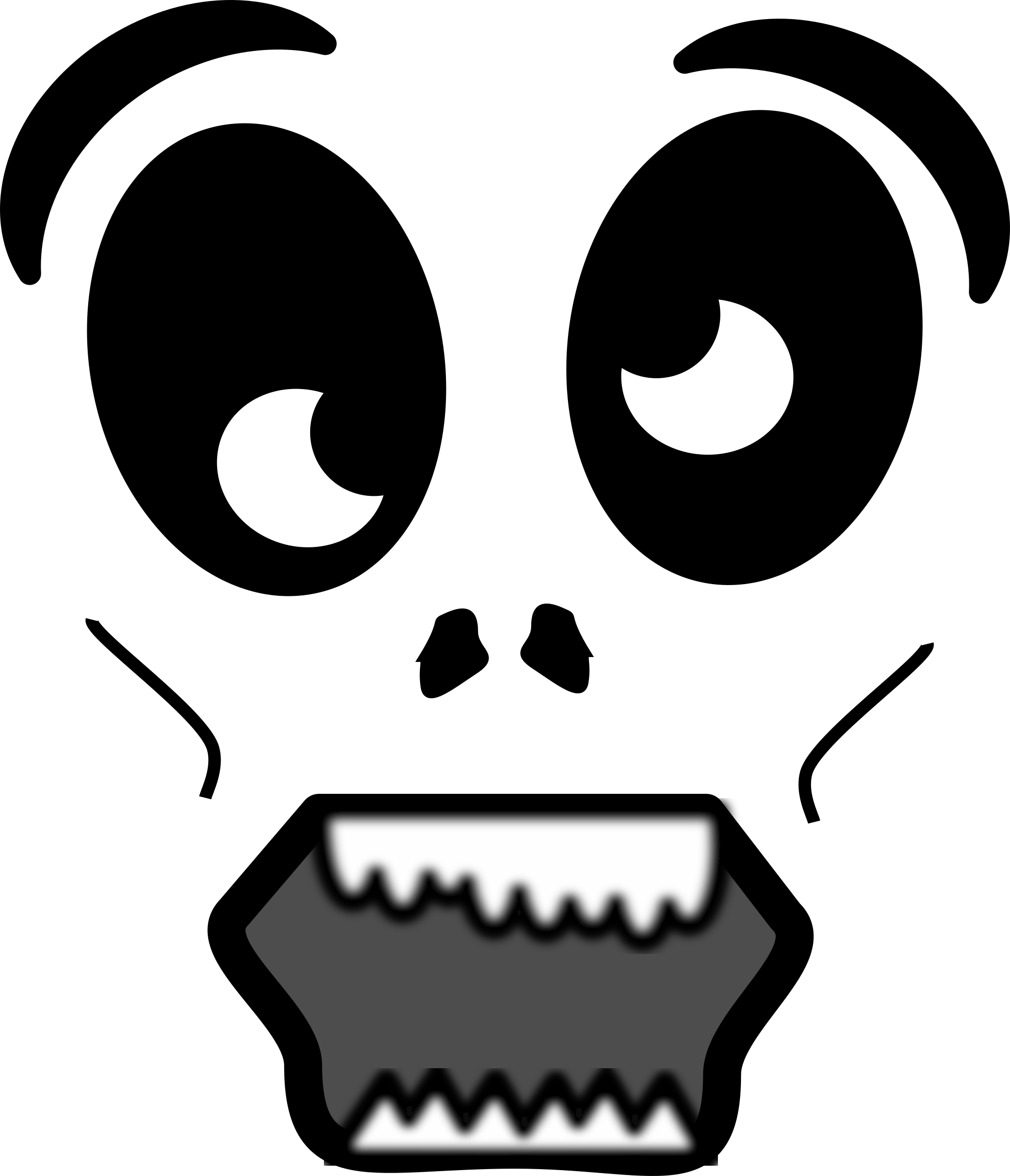 2061x2400 Collection Of Free Scream Drawing Ghost Face Download On Ui Ex