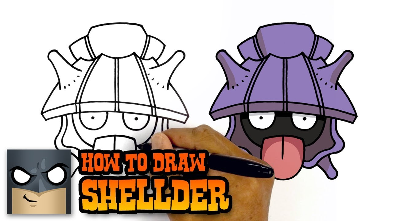 1280x720 How To Draw Pokemon Shellder Step