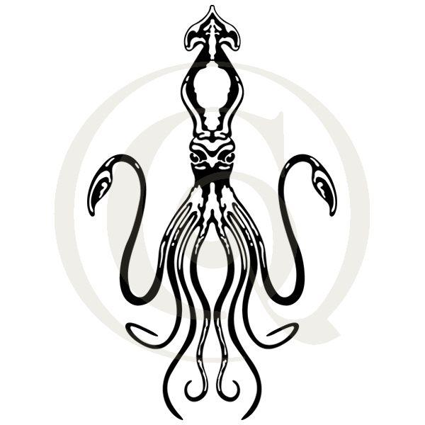 600x600 giant squid svgdxf octopi squid cutting craft genesis