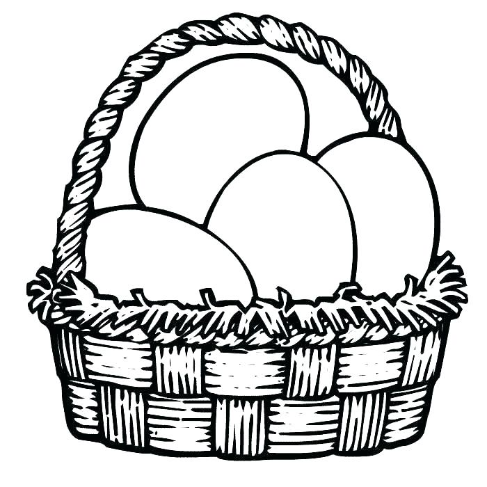 700x700 Easter Egg Basket Coloring Pages Strong Drawing Ideas Egg Coloring