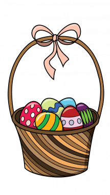 215x382 Easter Egg Basket Drawings Happy Easter Thanksgiving