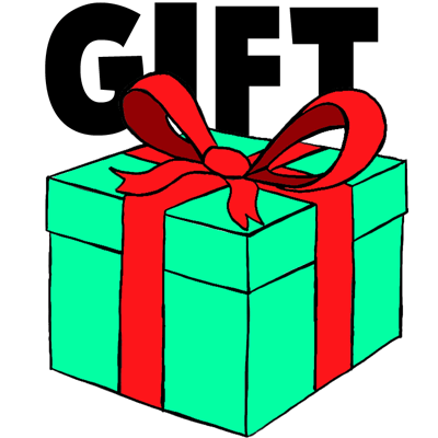 400x400 How To Draw A Wrapped Gift Or Present With Ribbon And Bow
