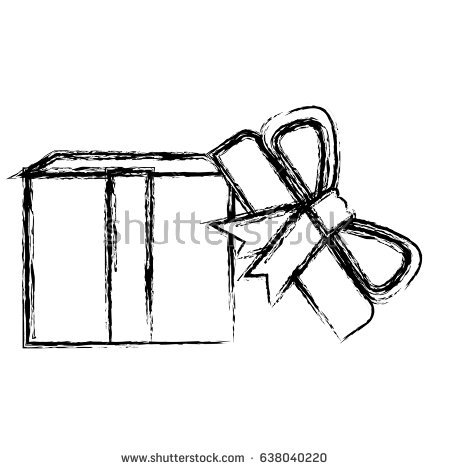 450x470 Open Gift Box Clipart Black And White