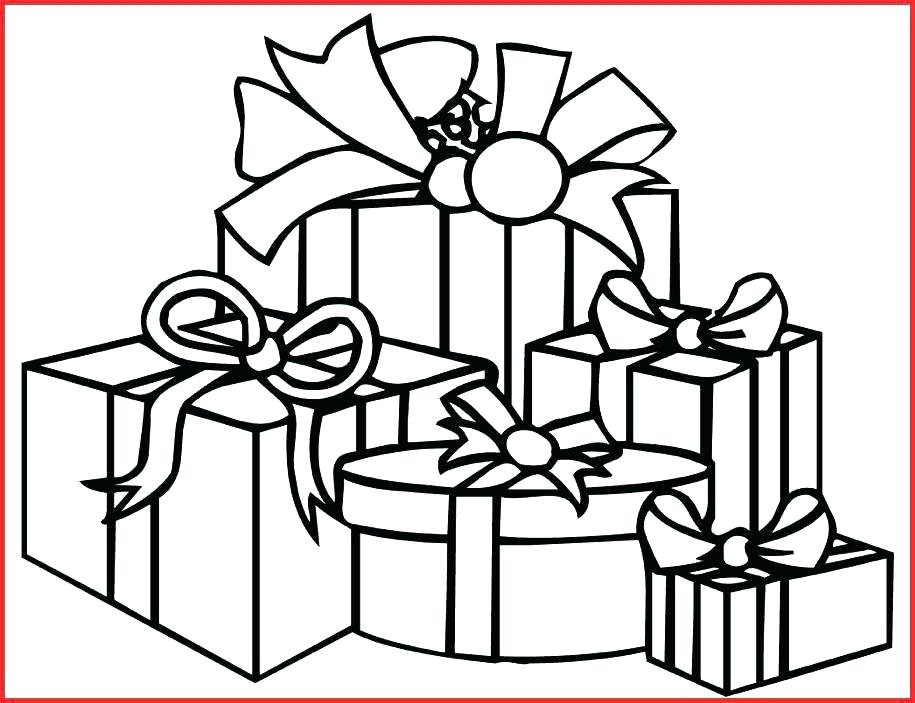 915x703 Gift Box Printable Coloring Pages