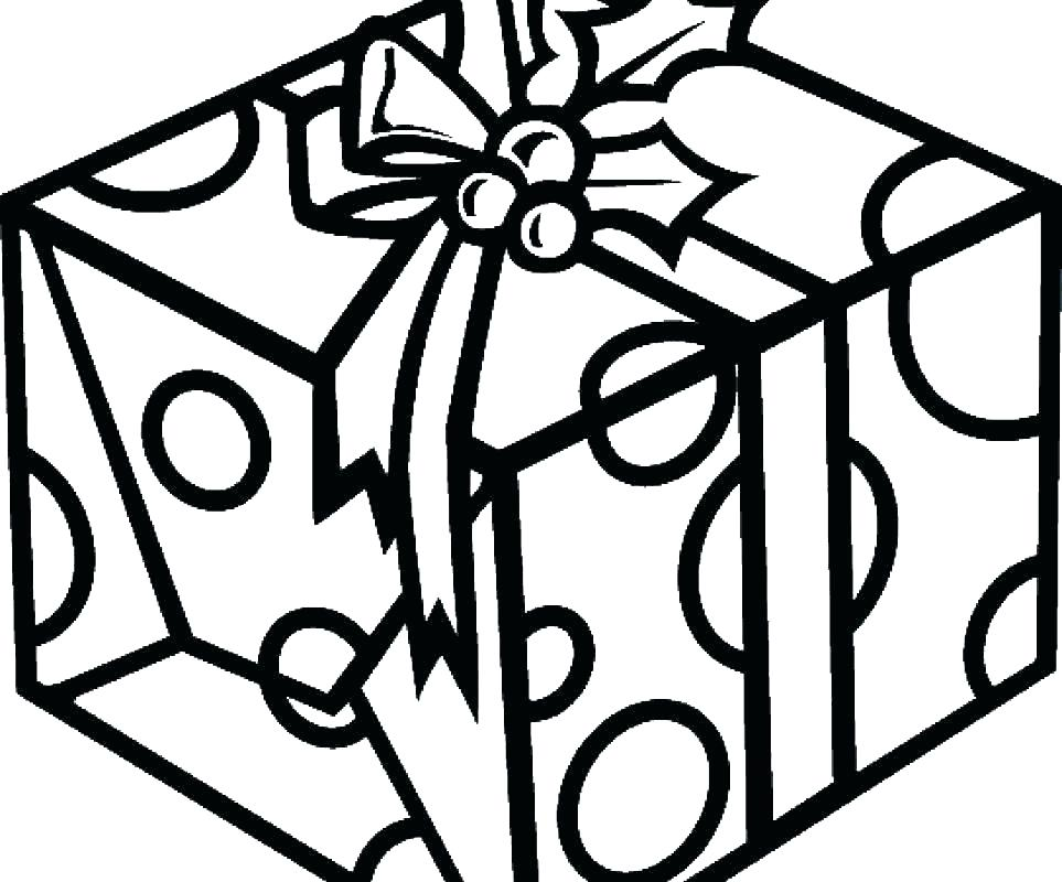 963x800 learn to draw a christmas present christmas present drawing