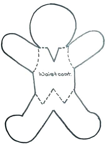 336x461 free printable gingerbread man template cutie gingerbread man