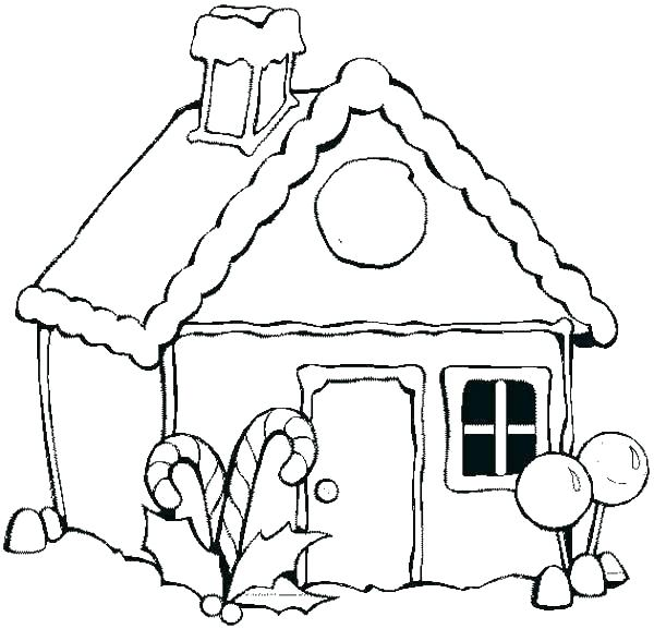 600x577 gingerbread house coloring pages beautiful gingerbread house