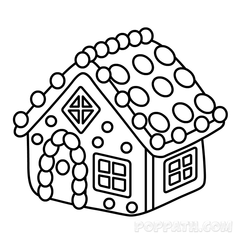 800x800 How To Draw A Gingerbread House Pop Path