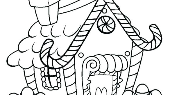 585x329 Images Of Candy Coloring Pages For Gingerbread House