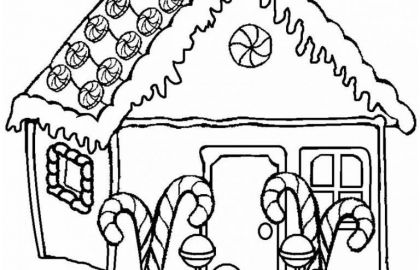 420x270 Gingerbread House Coloring Pages Or Winter Wonderland Coloring