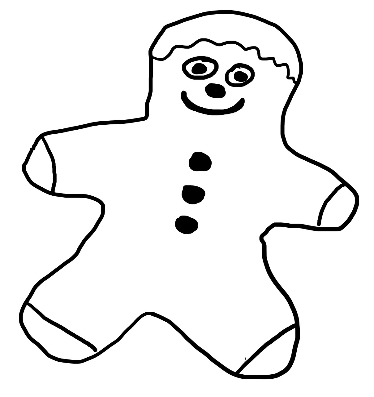 1209x1280 Drawing,gingerbread Man,males,free Pictures, Free Photos