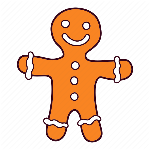 512x512 Drawing Candy Gingerbread Man Transparent Png Clipart Free