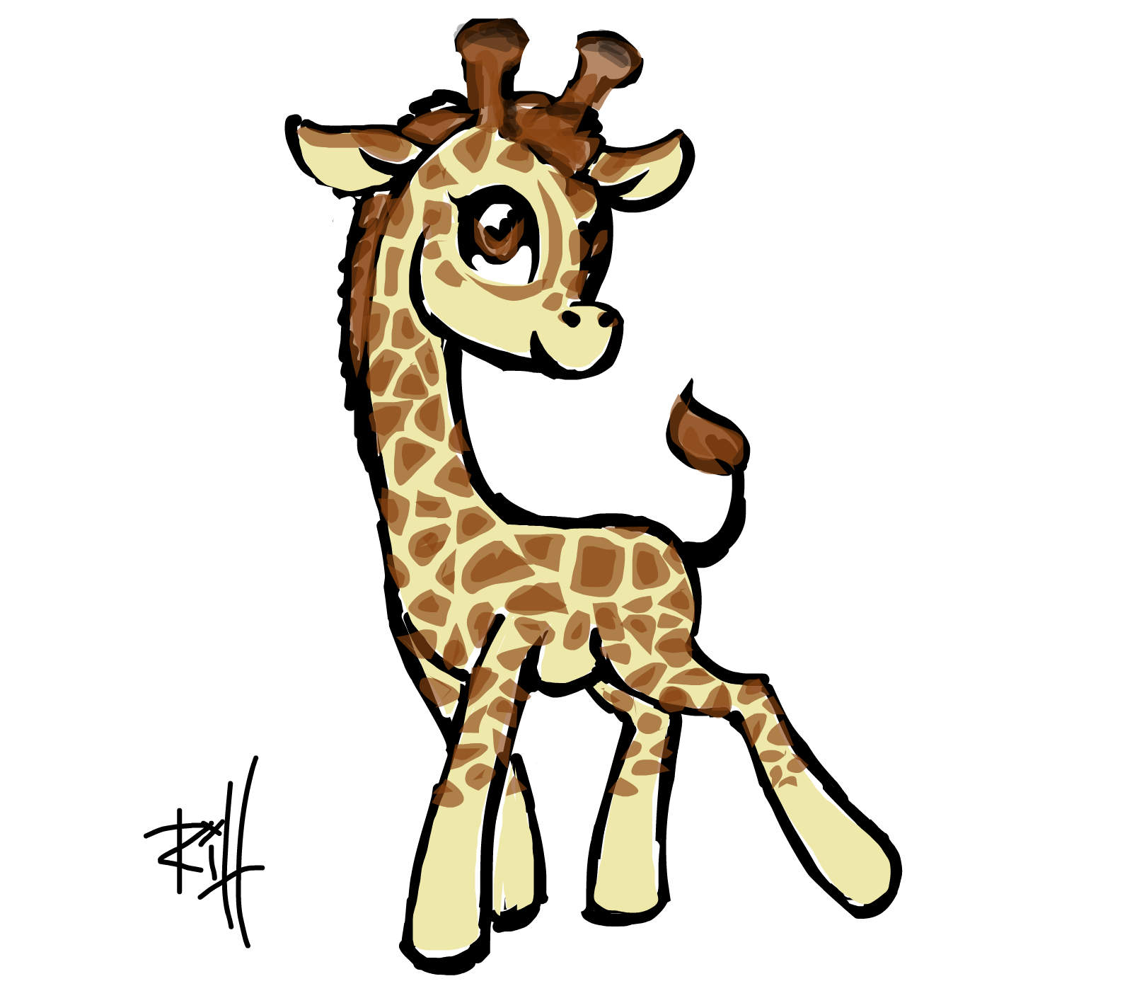 1600x1393 a brony giraffe drawings sketchport giraffe bee giraffe