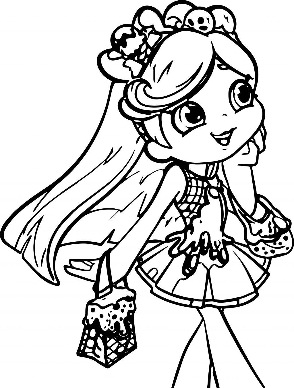 1024x1350 Coloring Pages Of Girl Elf Tags Chicano Drawings Chicken