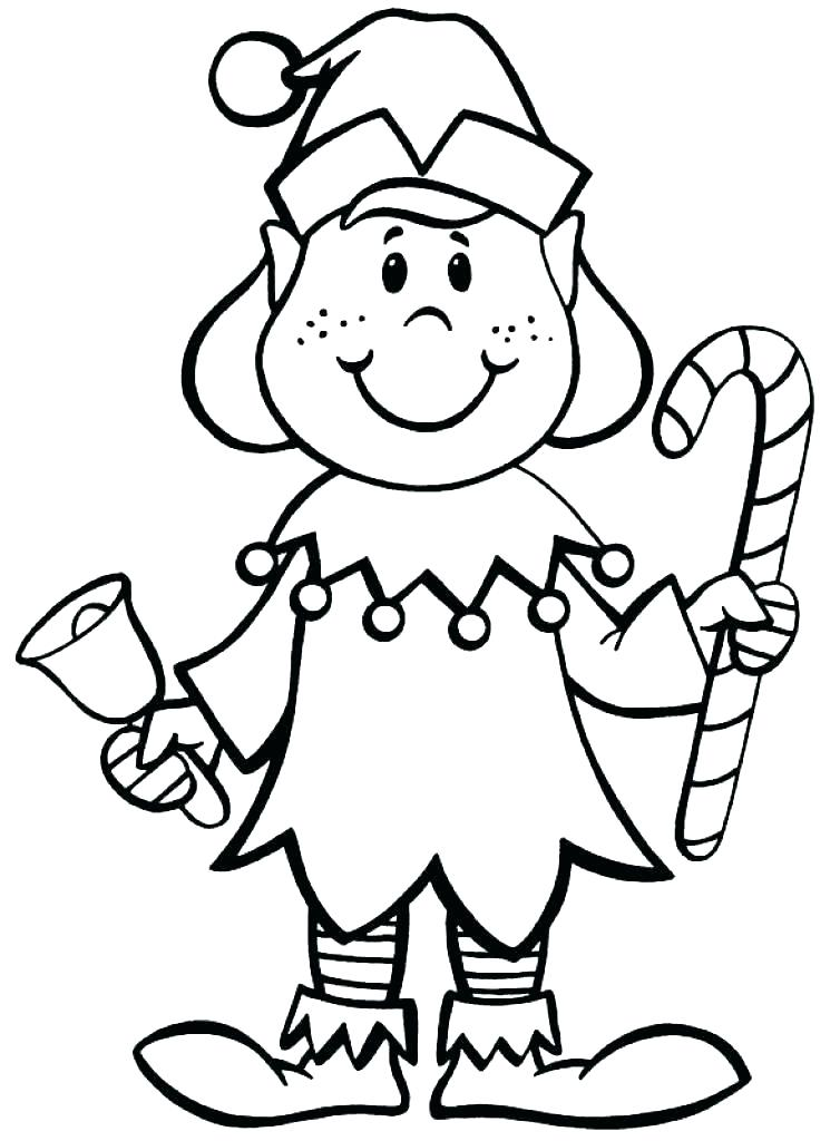 754x1024 B Elf Cute Girl Coloring Page