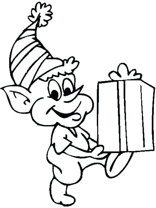 599x800 Images Of Cute Christmas Elf Coloring Pages
