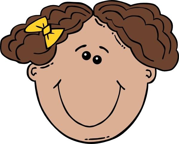 600x482 Girl Face Cartoon Clip Art Free Vector In Open Office Drawing