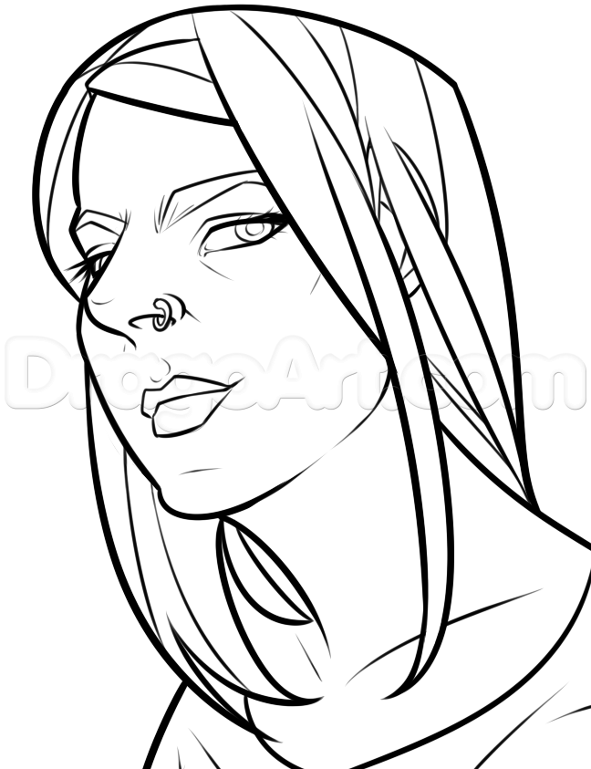 648x843 How To Draw A Comic Girl Face, Step
